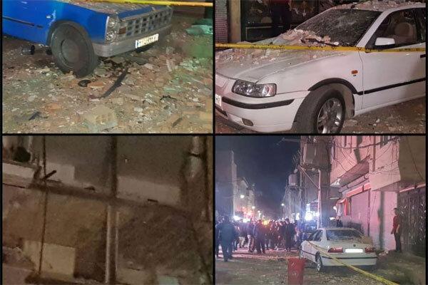 تصاویر ، جزئیات انفجار مواد محترقه در نسیم شهر ، 6 خانه آسیب دید