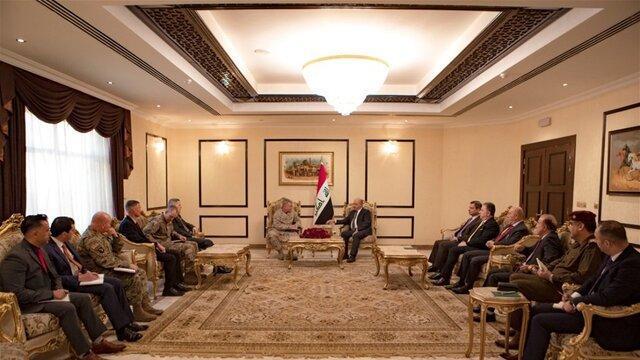 برهم صالح به ژنرال آمریکایی: عراق صحنه درگیری بین المللی نمی گردد