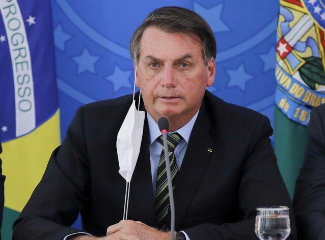 بروز علائم کرونا در بدن رئیس جمهور برزیل