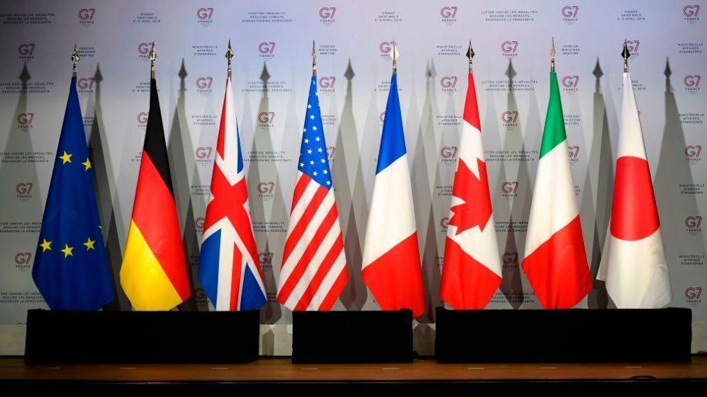 خبرنگاران کنفرانس ویدیویی وزرای خارجه گروه 7 درباره کرونا