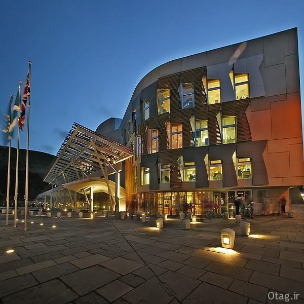 آنالیز طراحی نمای خارجی و داخلی ساختمان مجلس اسکاتلند