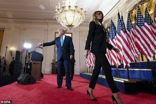 ملانیا برای طلاق دریافت از ترامپ لحظه شماری می کند