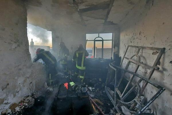 خانه مسکونی در مشهد در پی انفجار فرو ریخت