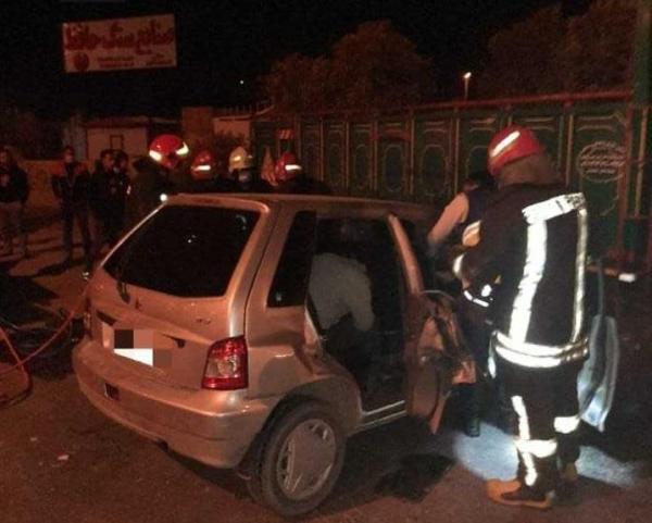تصادف مرگبارپراید با کامیون در شیراز