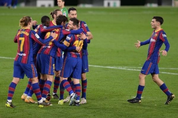 (ویدیو) خلاصه بازی بتیس 2 - بارسلونا 3؛ گل فوق العاده ترینکائو