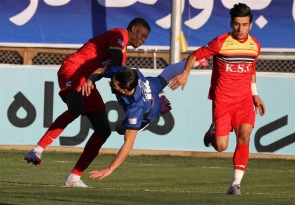 لیگ برتر فوتبال، تساوی فولاد و گل گهر در 45 دقیقه اول