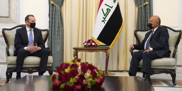 تأکید رئیس جمهور عراق بر ضرورت کاهش تنش های منطقه ای