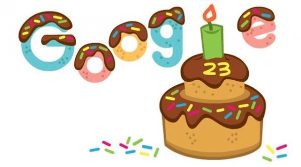 جشن تولد 23 سالگی گوگل